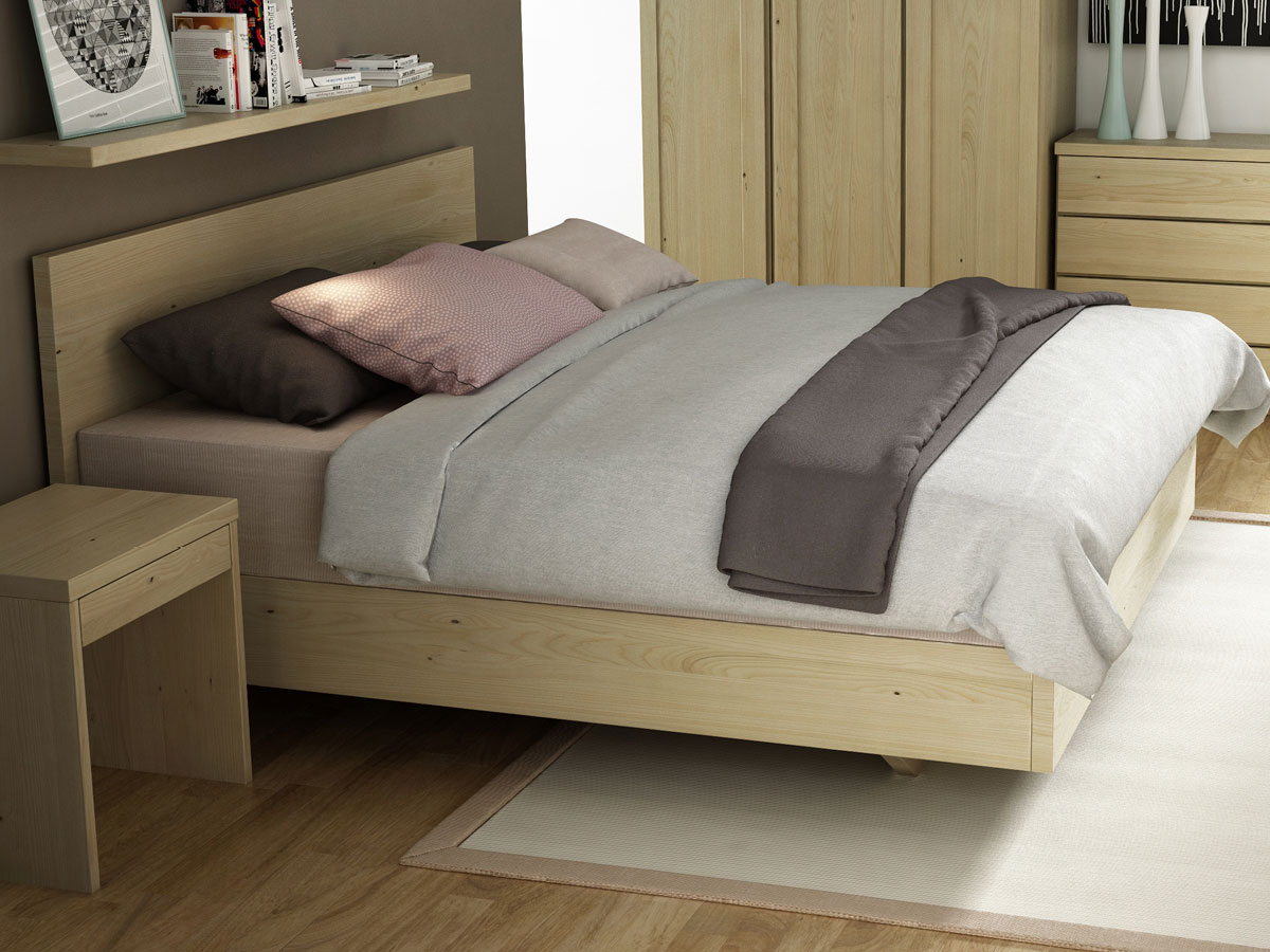 """Schlafzimmer mit Kastanienbett """"Patrizia"""" Boxspring 180 x 200 cm"""