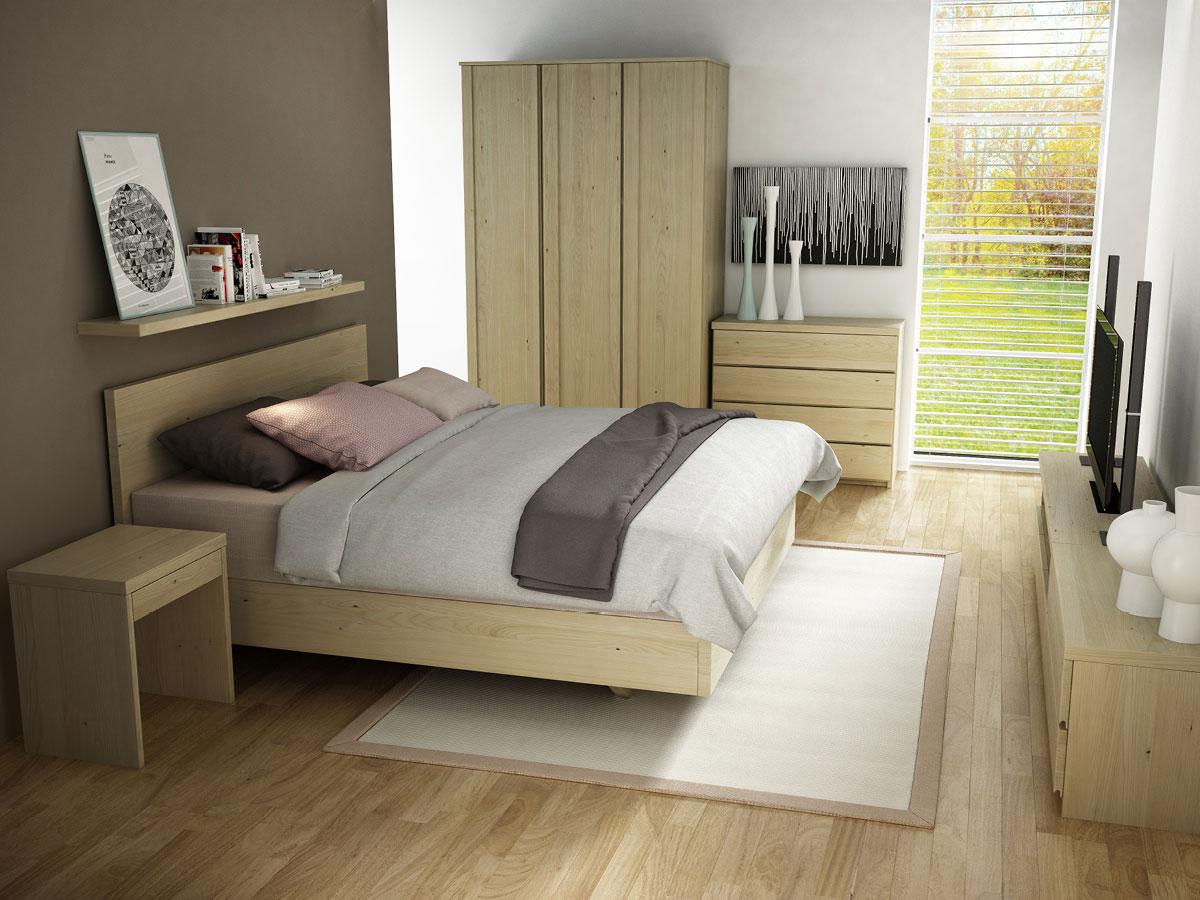 """Schlafzimmer mit Kastanienschrank """"Patrizia"""" 3-türig, Höhe 235 cm"""