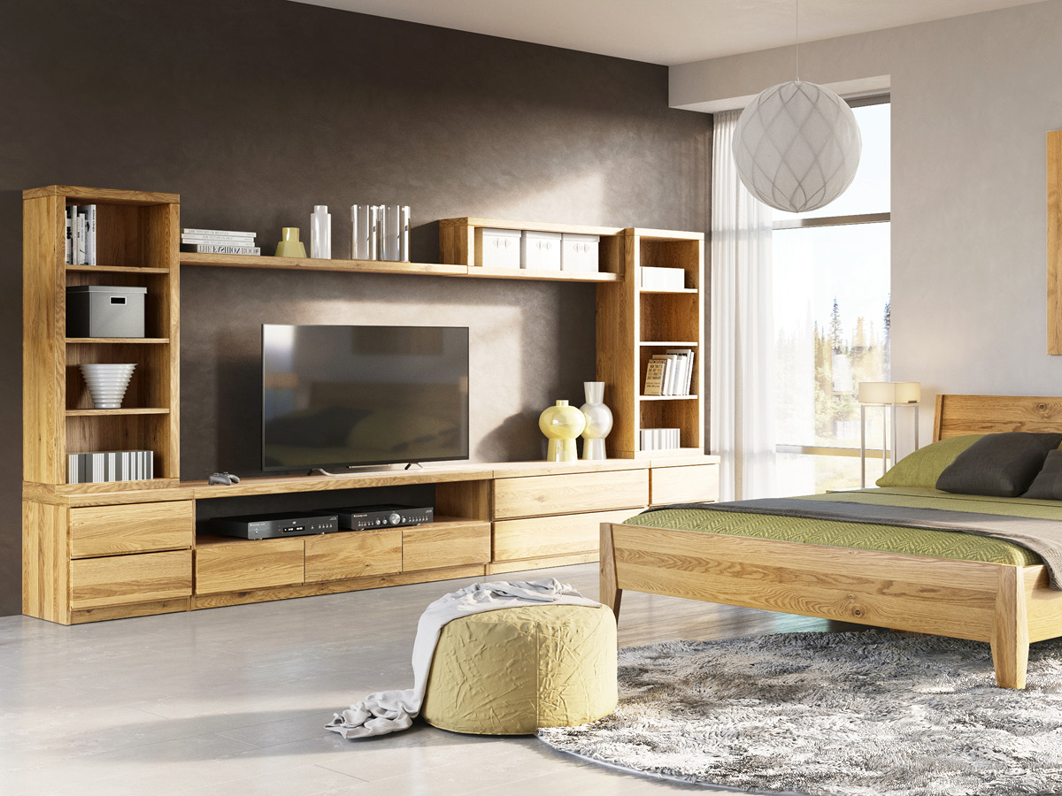 """Eichenwohnzimmer mit Sideboard """"Patrizia"""""""
