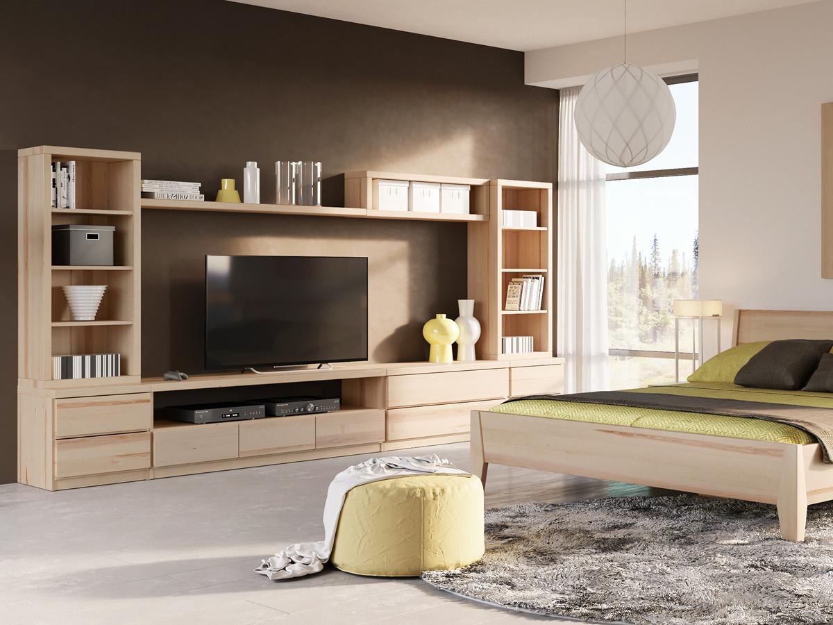 """Eschenwohnzimmer mit Sideboard """"Patrizia"""""""