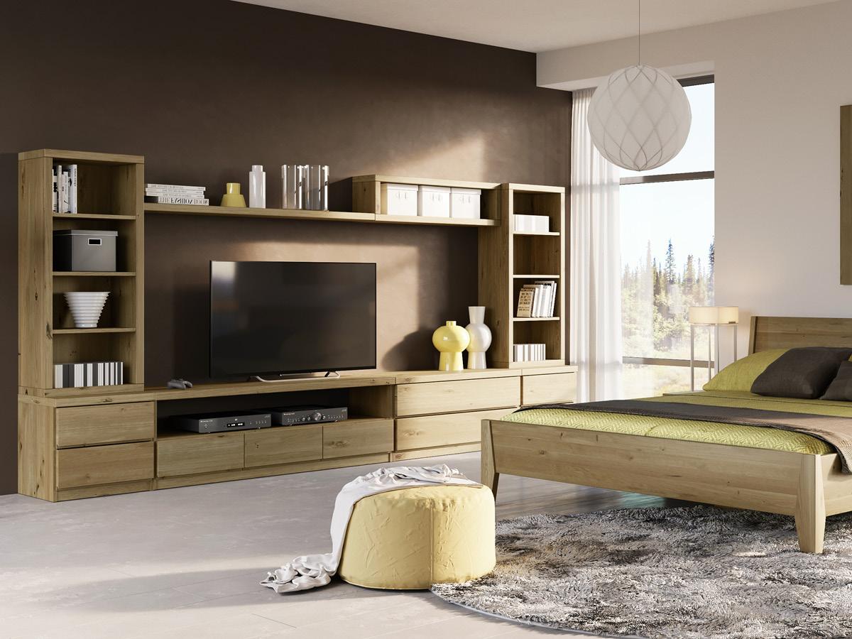 """Wildeichenwohnzimmer mit Sideboard """"Patrizia"""""""