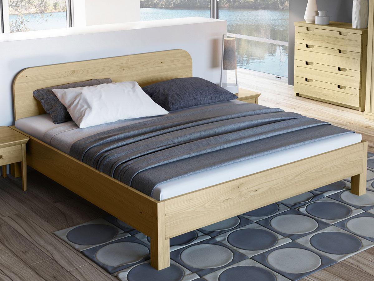 """Schlafzimmer mit Kastanienholzbett """"Samuel"""" 180 x 200 cm"""