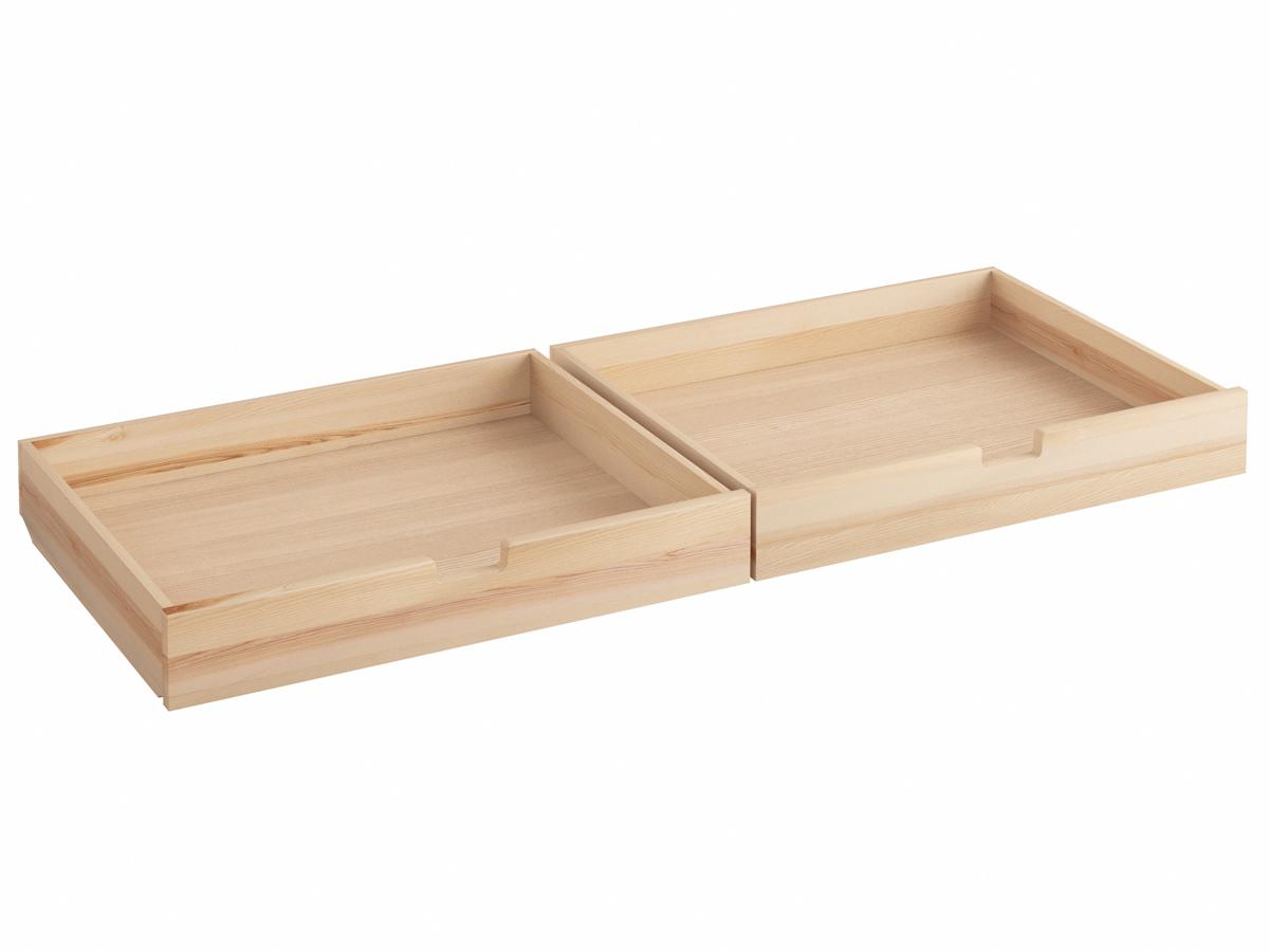 """Bettkasten """"Sebastian"""" 2 Stück 98,5 x 77,5 cm - metallfrei, Massivholz Esche"""