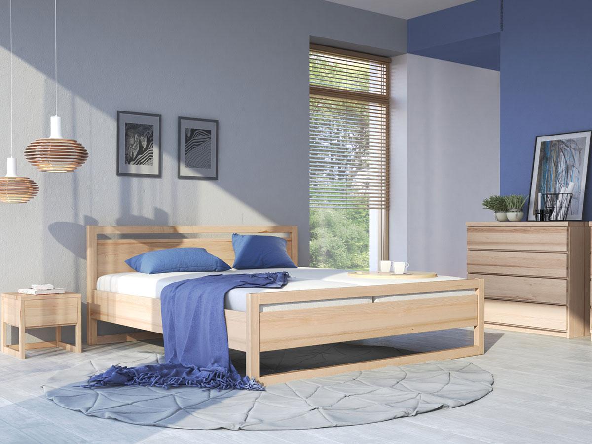 """Schlafzimmer mit Nachttisch """"Selina"""" in Esche"""