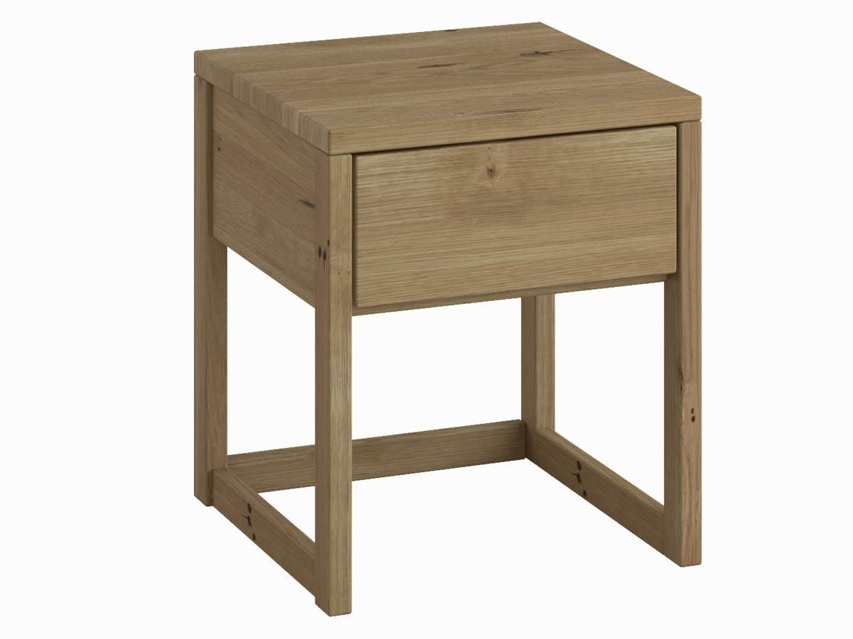 """Nachttisch aus Wildeiche """"Selina"""" in Komforthöhe"""