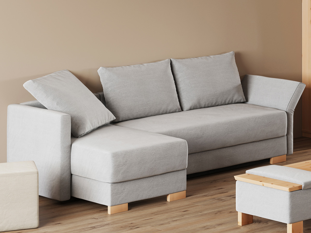 """Sofa """"Nathalie"""", Anbauelement links in 150 cm Breite, 1 Faltkissen und 2 Rückenkissen"""