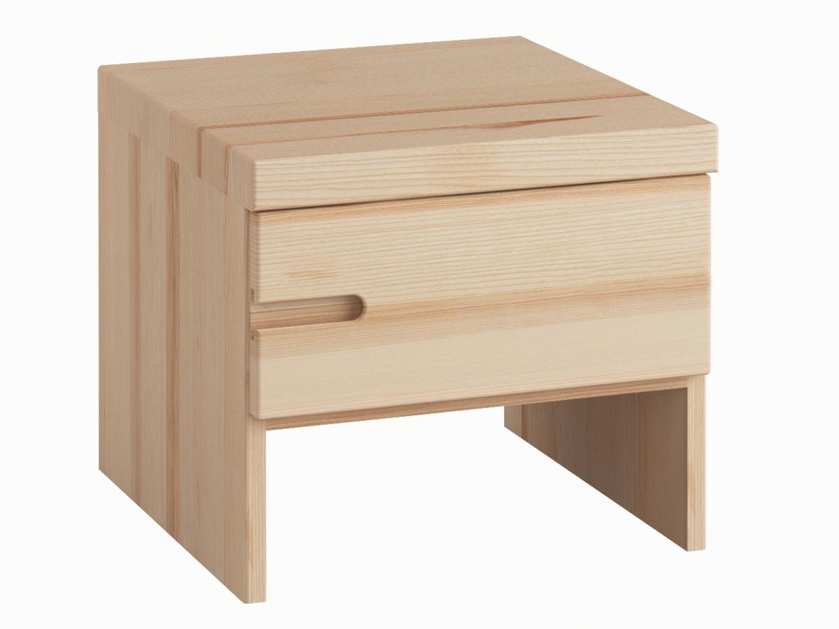 """Eschennachttisch """"Stefan"""" mit Griff links, einer Schublade, in Standardhöhe"""