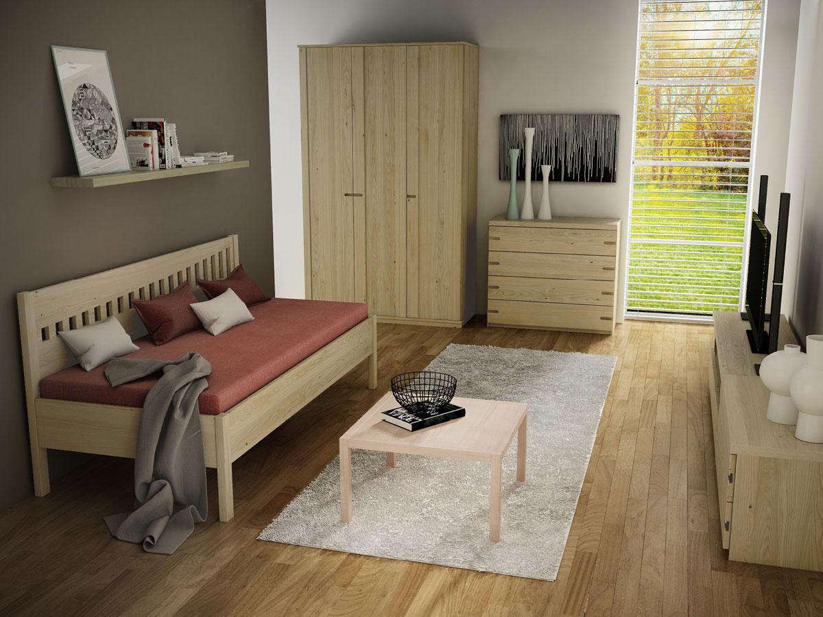 """Zimmer mit Kastaniensofa """"Stefanie"""" 90 x 200 cm"""