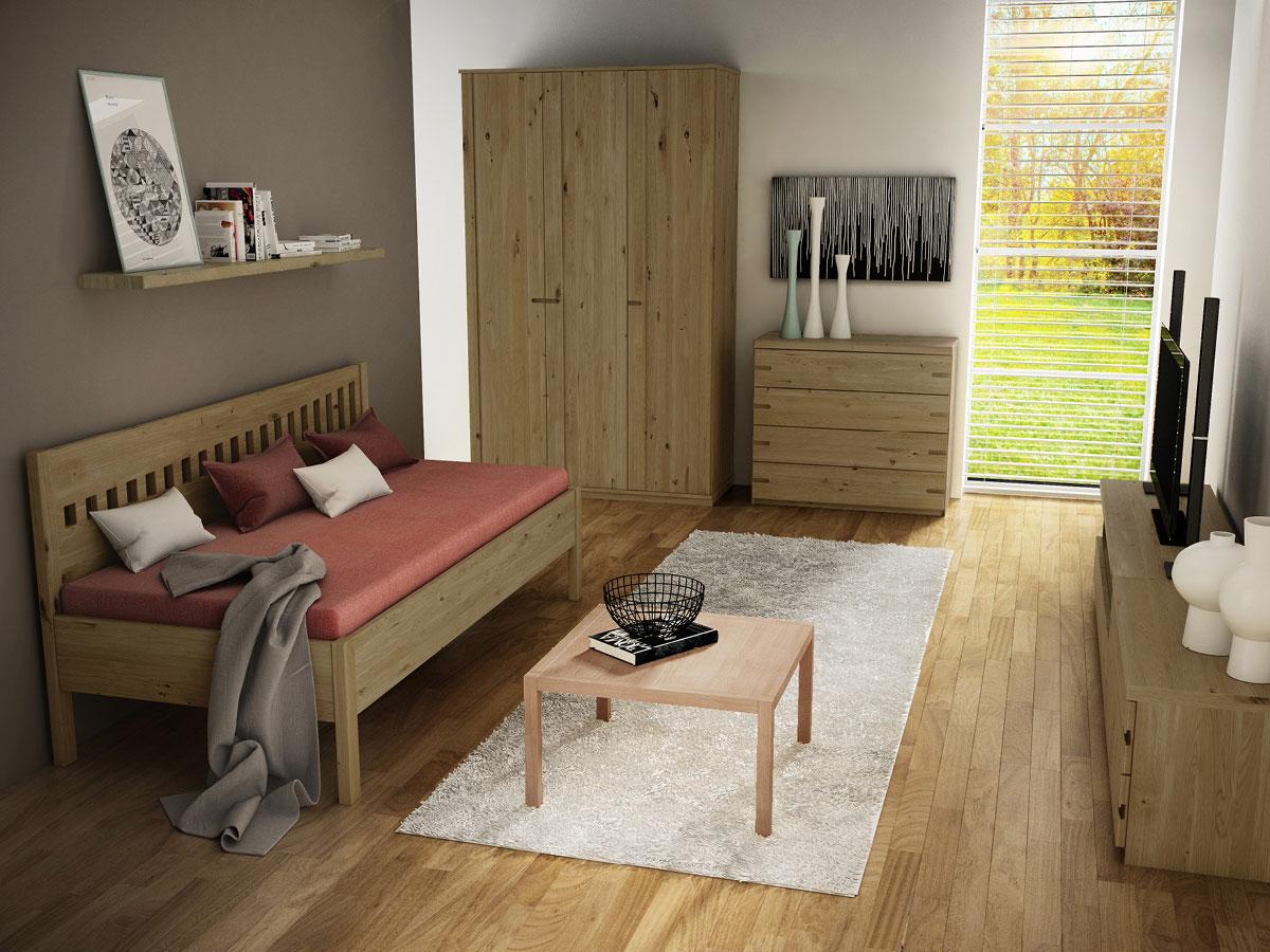 """Zimmer mit Wildeichensofa """"Stefanie"""" 90 x 200 cm"""