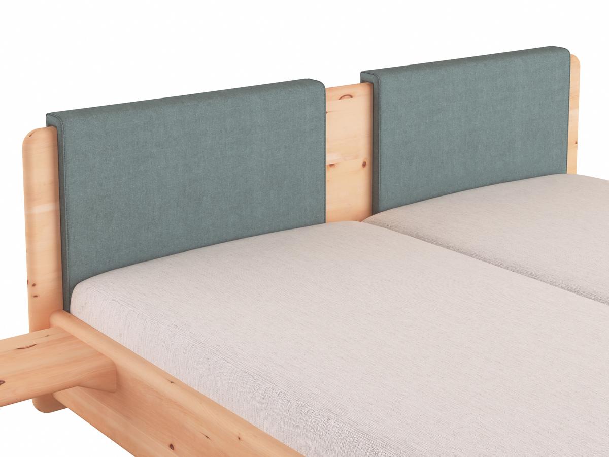 """Stoffkopfteil """"Charlotte"""", Ausführung gerade zweigeteilt, für das LaModula Bett"""