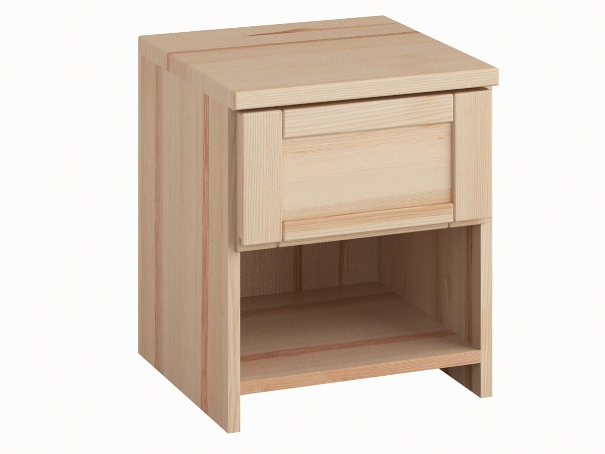 """Nachttisch """"Susanne"""" in Esche mit einer Schublade, in Komforthöhe"""
