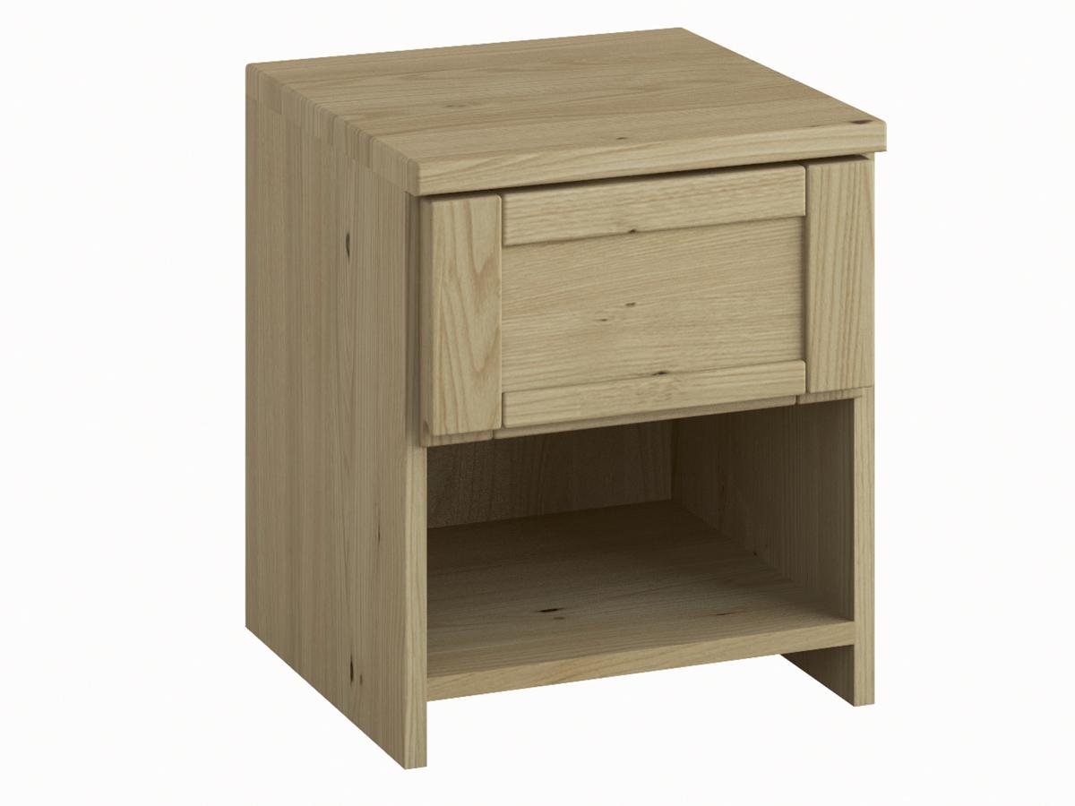 """Nachttisch """"Susanne"""" in Kastanie mit einer Schublade, in Komforthöhe"""
