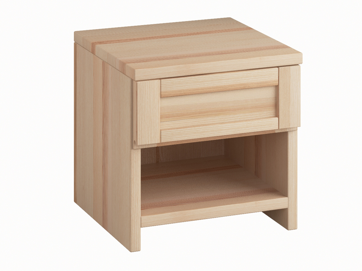 """Nachttisch """"Susanne"""" in Esche mit einer Schublade, in Standardhöhe"""