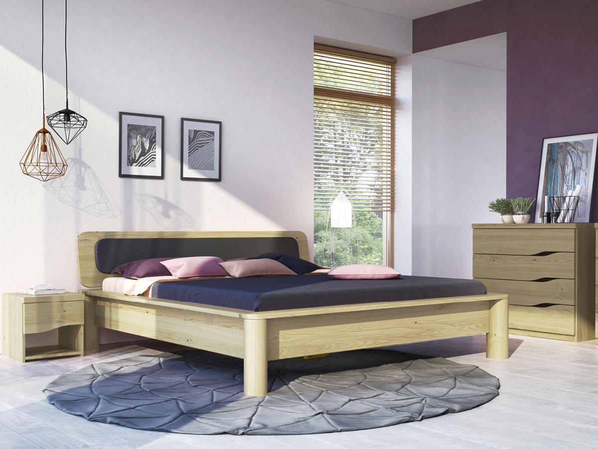 """Schlafzimmer mit Kastanienbett """"Tamara"""""""