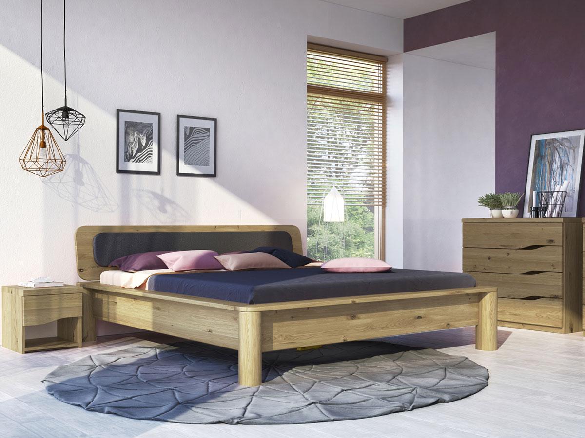 """Schlafzimmer mit Wildeichenbett """"Tamara"""""""