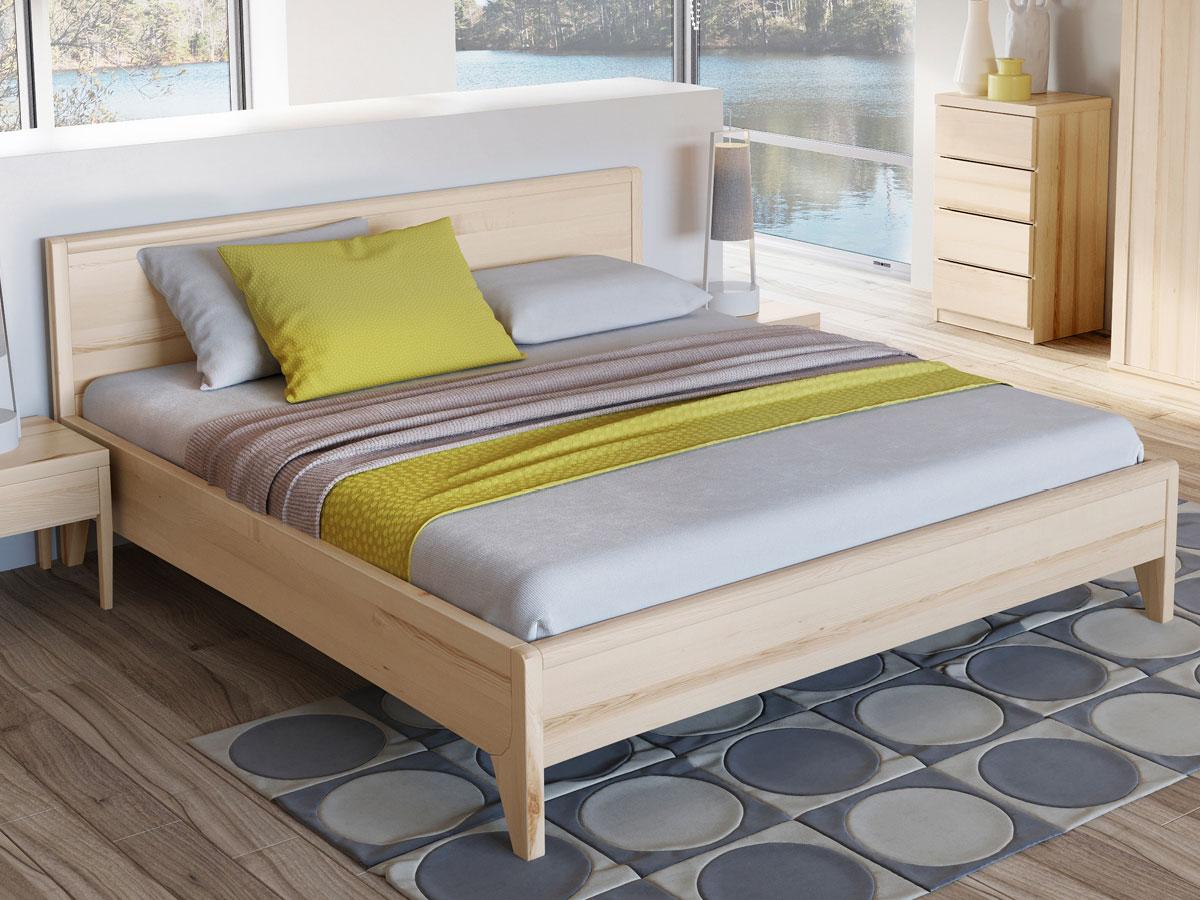 """Schlafzimmer mit Eschenholzbett """"Tanja"""" 180 x 200 cm"""