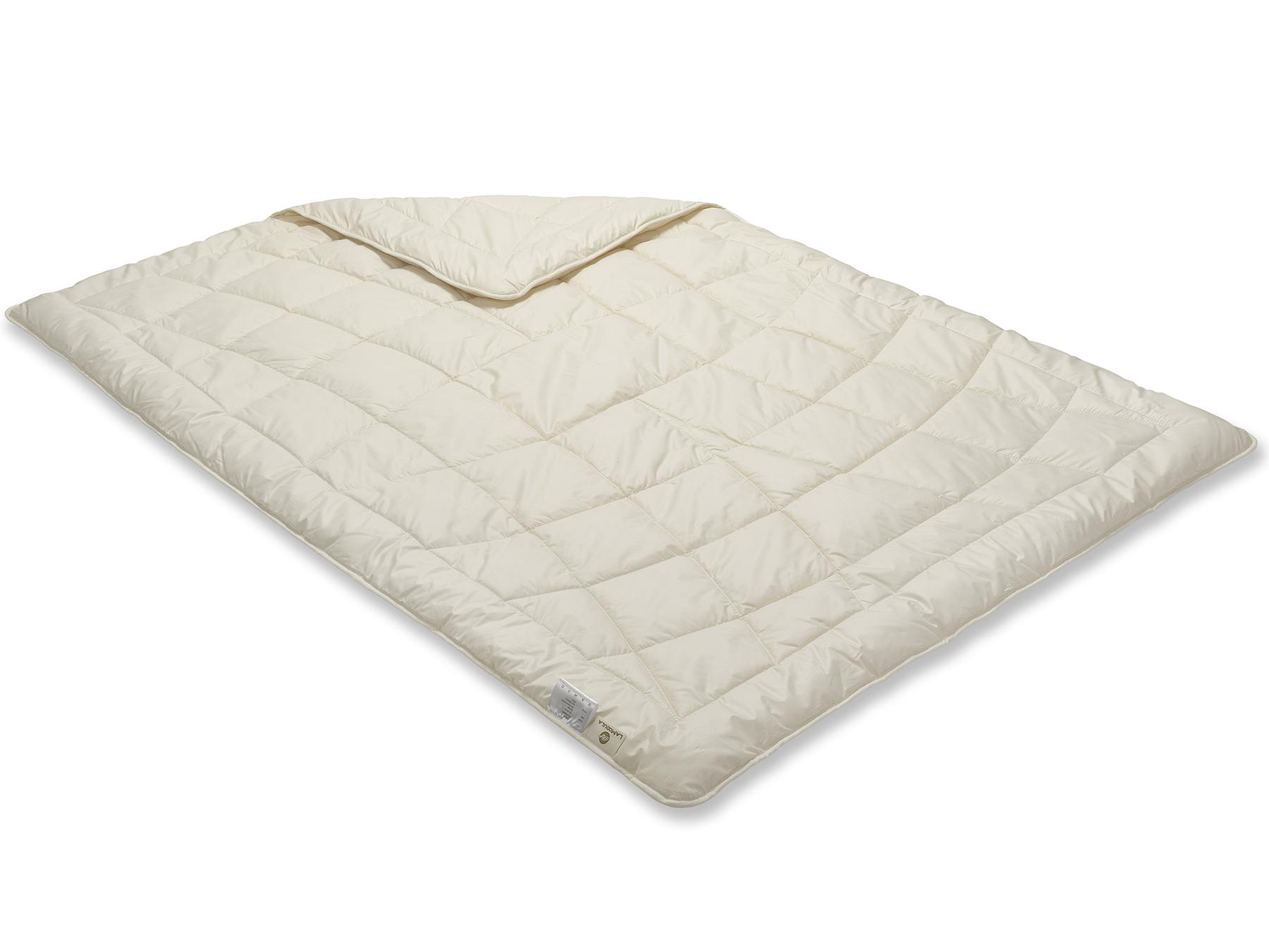 Diese Decke ist etwas Besonderes: Sie wird mit Einnadel-Technik hergestellt.
