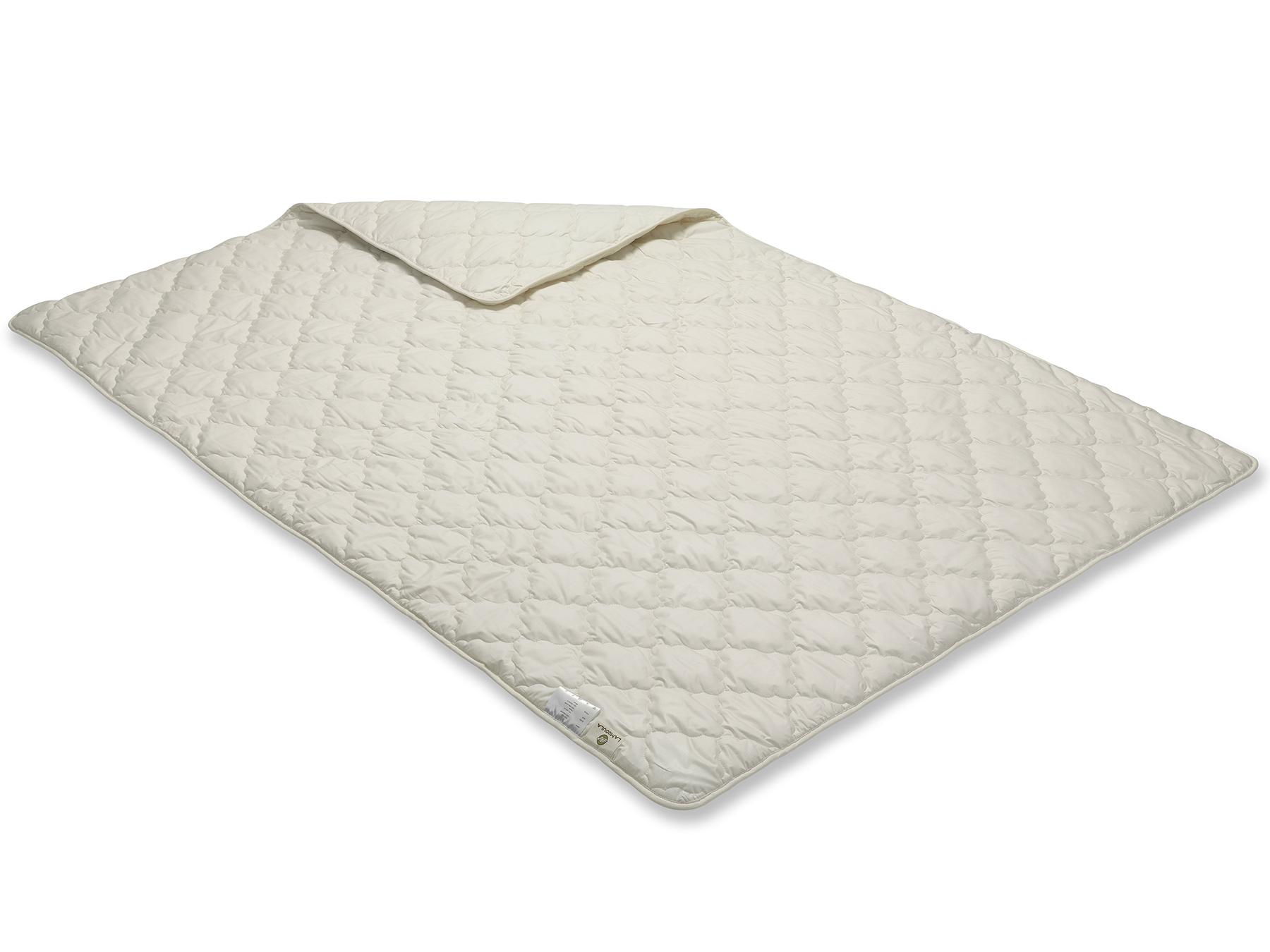 Diese Decke wird mit Vielnadeltechnik hergestellt - so erhält sie ihr gleichmäßiges Muster.