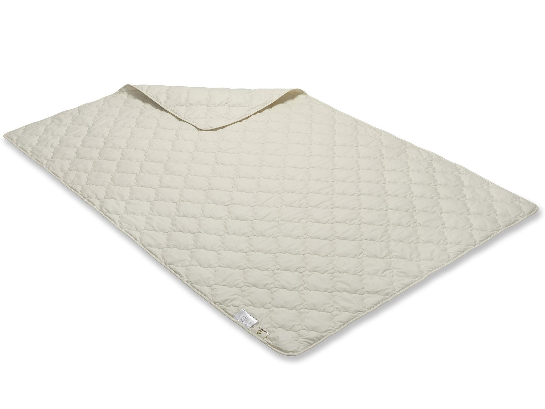 Diese Decke wird mit Vielnadeltechnik hergestellt wie man an der Steppung erkennen kann.