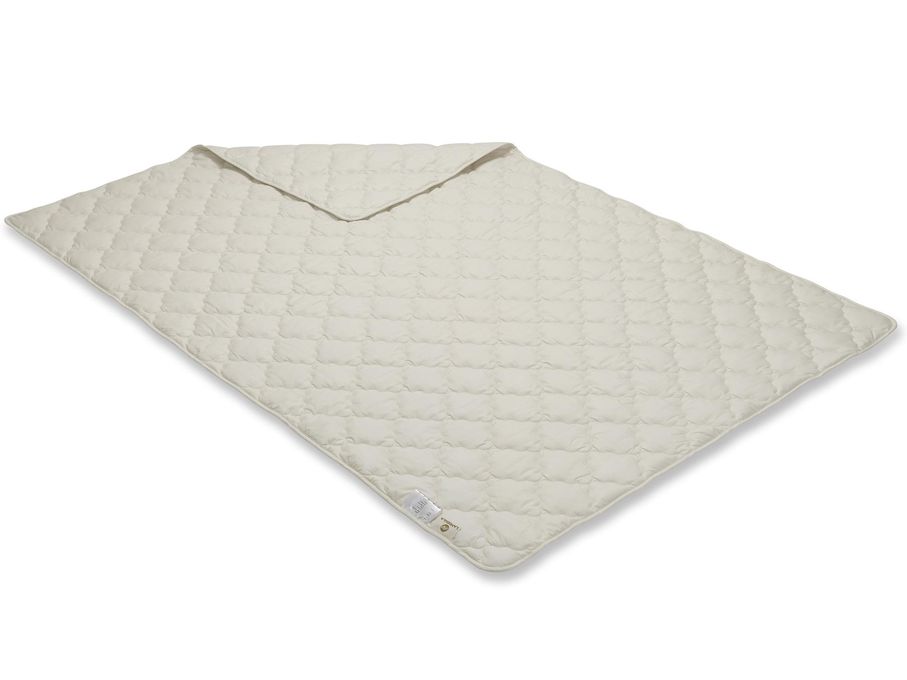 Diese Decke wird mit Vielnadeltechnik hergestellt - so ergibt sich ein durchgehendes Muster.