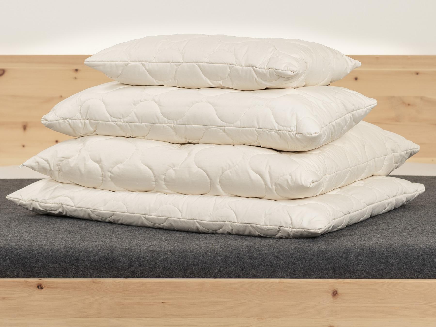 Unser TENCEL™ Faser/Mais Kissen sorgt stets für ein ausgeglichenes Schlafklima.