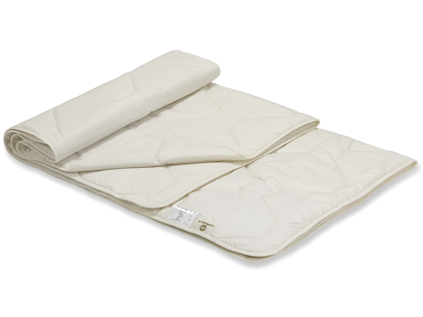 Füllung: TENCEL™ Faser und Mais-Vlies, Bezug: Perkal aus Bio-Baumwolle (kbA)