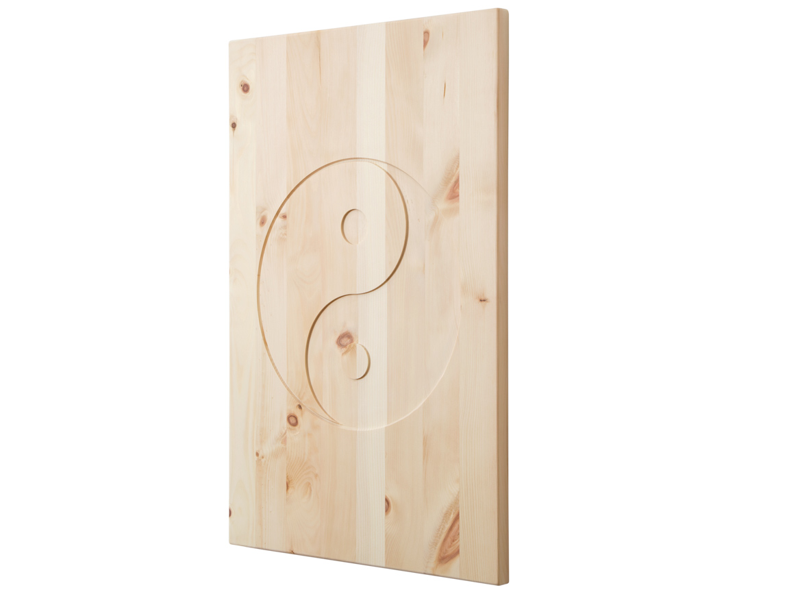 Holzbild aus Zirbenholz 40 x 60 cm