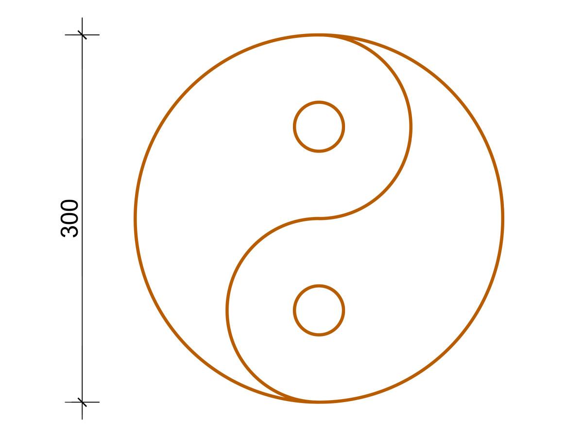 Fräsung - Yin + Yang