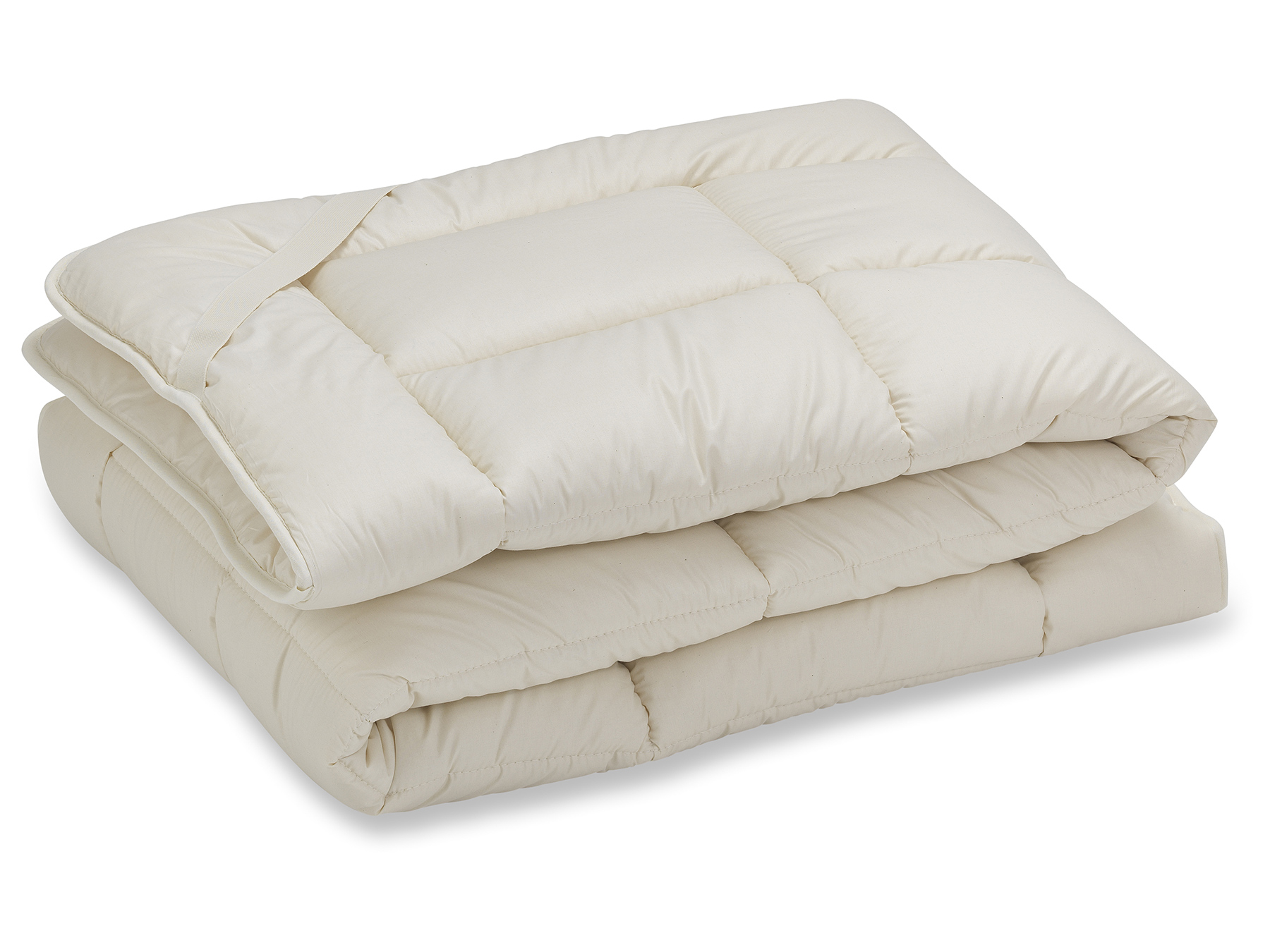 Unterbett aus wärmender Schafschurwolle kombiniert mit duftender Zirbe