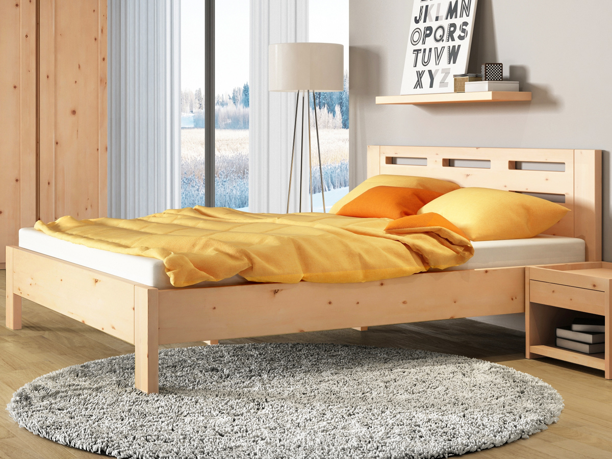 """Zirbenschlafzimmer mit Zirbenbett """"Claudia"""""""