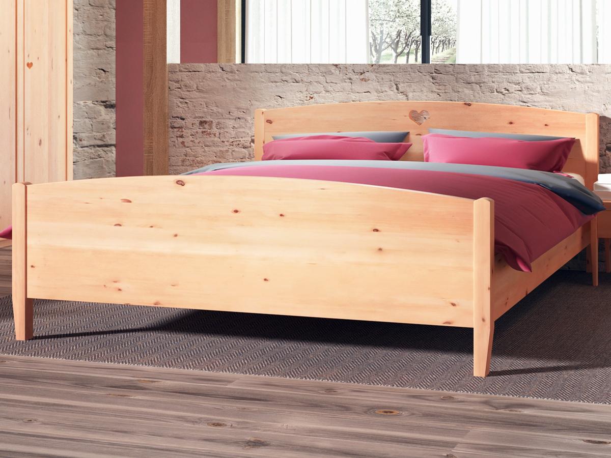 """Schlafzimmer mit Zirbenholzbett """"Heidi"""""""