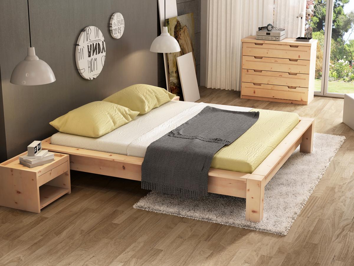 """Zirbenschlafzimmer mit Zirbenholzbett """"Ina"""""""