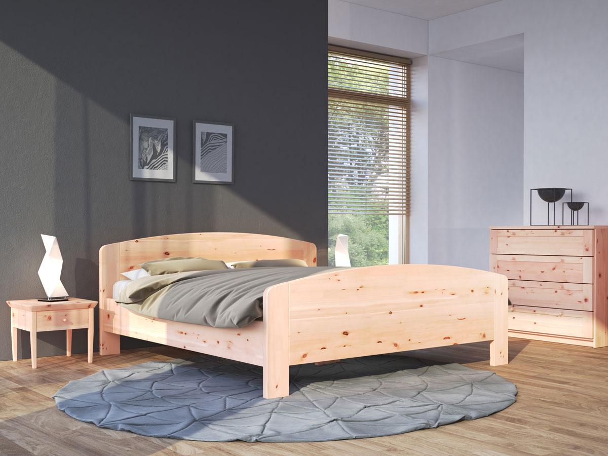 "Zirbenschlafzimmer mit Zirbenholzbett ""Kerstin"""
