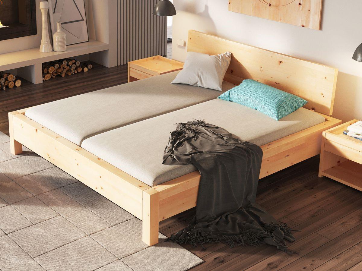"""Zirbenschlafzimmer mit Zirbenbett """"Kurt"""" 180 x 200 cm"""