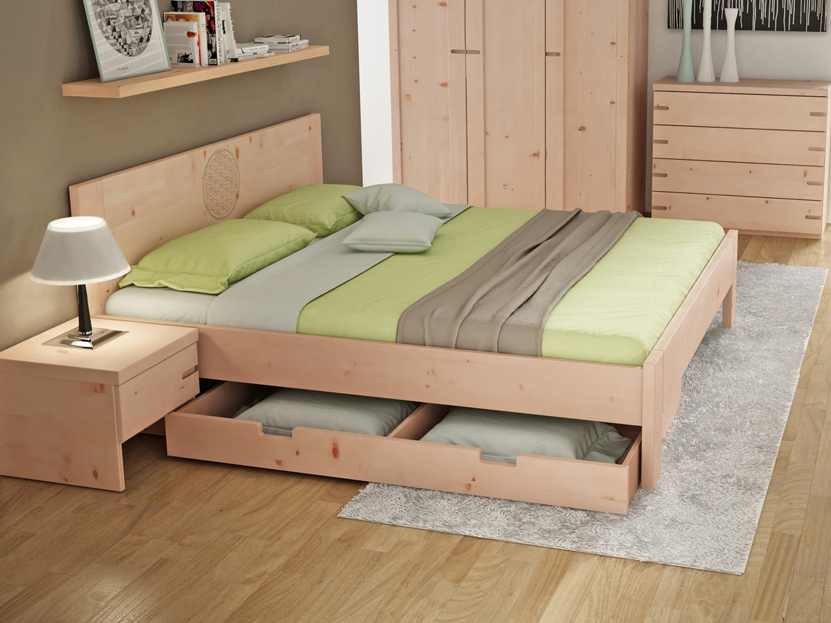 unterbettkommode bettkasten aus zirbenholz. Black Bedroom Furniture Sets. Home Design Ideas