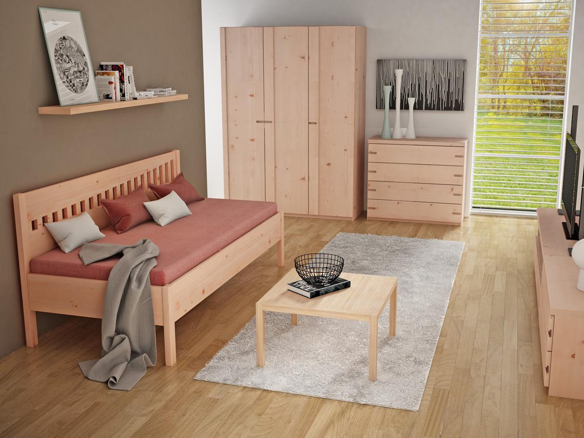 """Zimmer mit Zirbensofa """"Stefanie"""" 90 x 200 cm"""