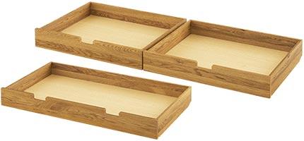 Nachttisch aus Zirbenholz mit Lade
