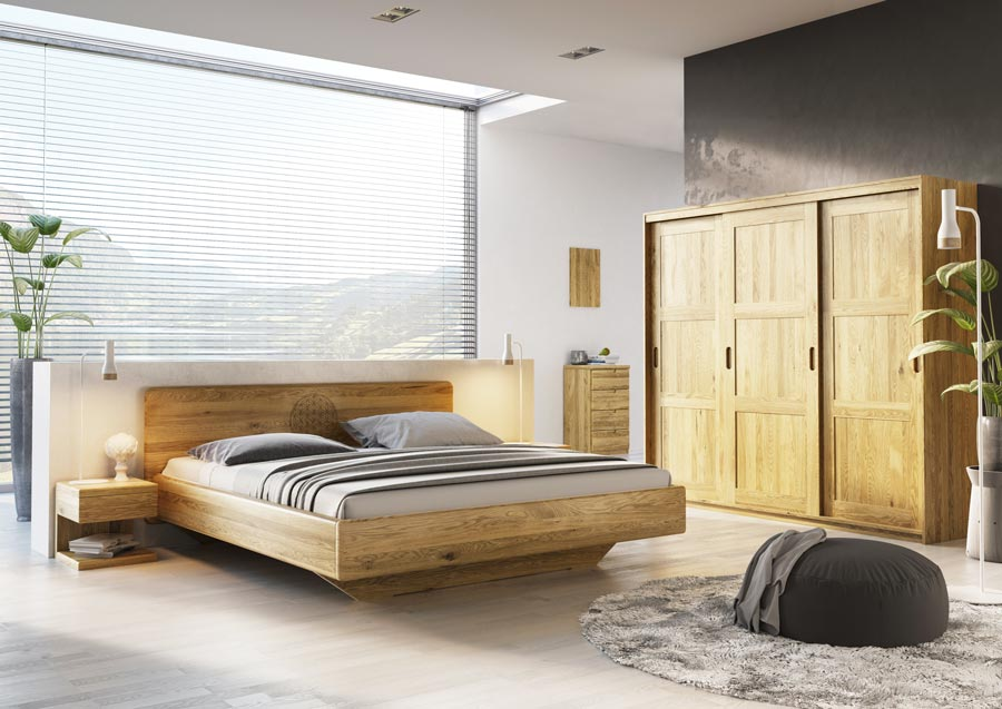 kleiderschrank in eiche massiv von lamodula. Black Bedroom Furniture Sets. Home Design Ideas