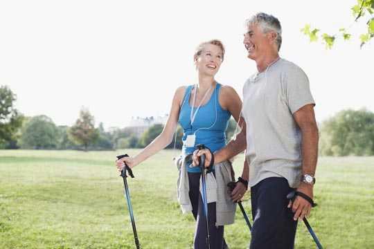Bewegung ist gesund - Nordic Walking