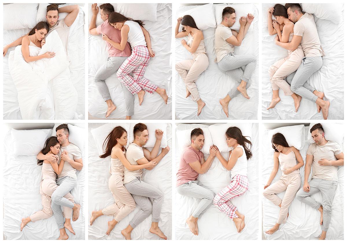 Bedeutung schlafpositionen paar Wie Paare