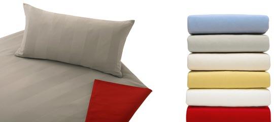 Bettwäsche und Spannbettlaken / Spannleintücher