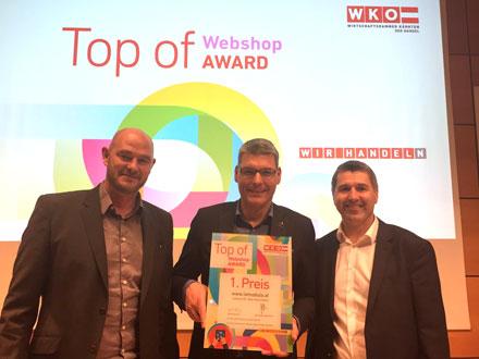 LaModula - Gewinner des Top of Webshop Award