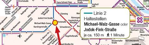 Verkehrsplan LaModula Salzburg