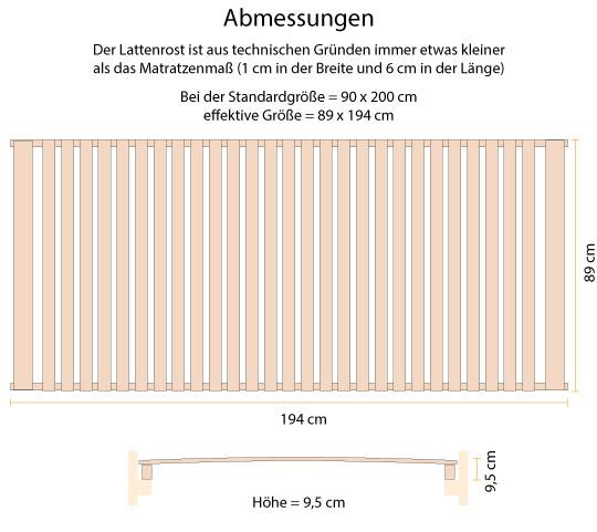 Skizze Größe Lattenrost ohne Metallteile