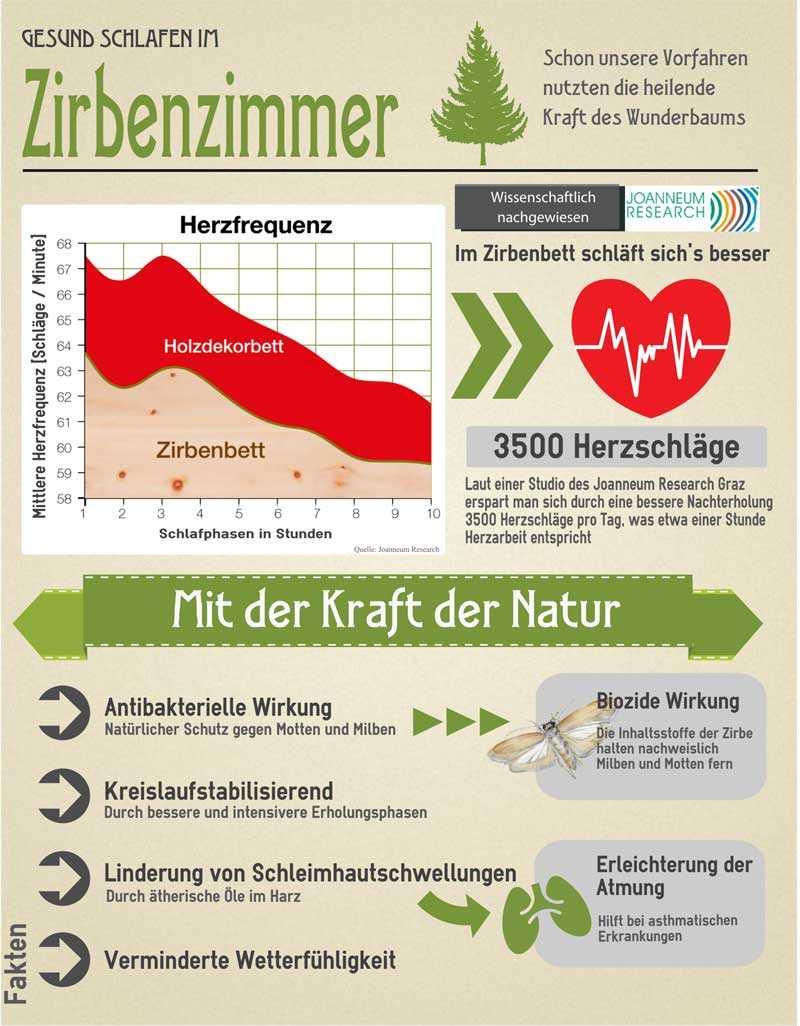 Infografik Zirbenholz